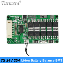 Panneau de Protection de la température BMS NTC, batterie au Lithium 7S 24V 29.4V 25a avec Balance pour vélo électrique et scooter électrique, Turmera