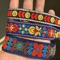 ZERZEEMOOY 1 дюйм 19 мм 25 мм 28 мм 5 ярдов/упаковка винтажные цветные цветы ручная жаккардовая лента кружева MJZD19120309