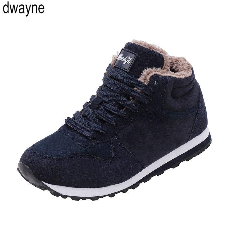 Men Boots Men Winter Shoes Plus Size Warm Ankle Botas Hombre For Leather Winter Boots Shoes Men Plush Winter Sneakers Mens