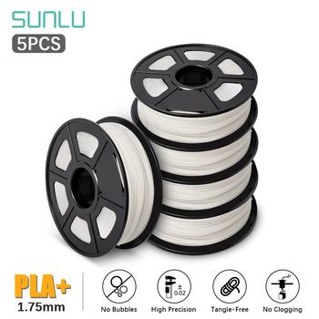 SUNLU PLA Plus 3D Filament drukarki PLA 1 75mm 1KG ze szpulą z tworzywa sztucznego PLA + 3D Filament 3D materiał do drukowania 5 rolek zestaw tanie i dobre opinie CN (pochodzenie) Z jednego materiału SUNLUPLA PLUS 3D ptinter Filament 2 5 10 Rolls +-0 02MM 100 no bubble 190-220 degree C