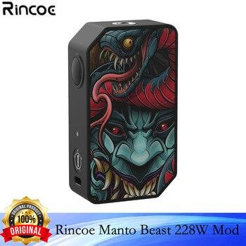 Rincoe – boîte à cigarettes électronique originale Manto Beast, Mod 228W, vapoteur 510 fils, puissance 228w, avec double batterie 18650