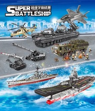 XingBao Compatible with legoed Bricks The Aircraftd Carrier WW2 Tiger Tank Boy Model Kit Assemble Building Blocks Military Toys цена и фото