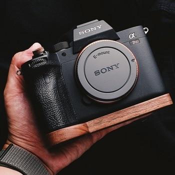 Walnut Wooden Wood Hand Grip Plate Bracket For Sony A7M4 A7R4 A9II A7R IV