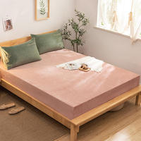 100% Polyester Bed Sheets Fitted Sheet Warm Crystal Velvet Twin Full Queen King Size Flannel Mattress Cover Protector Sabanas