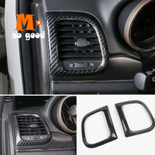 3pcs red car air conditioner switch cover for jeep wrangler 2008 2014 auto air conditioner button ring interior car styling 2014 2015 2016 2017 For Jeep Grand Cherokee Car ABS Chrome Conditioner Air Outlet Decoration Cover Trims Car Styling Accessories