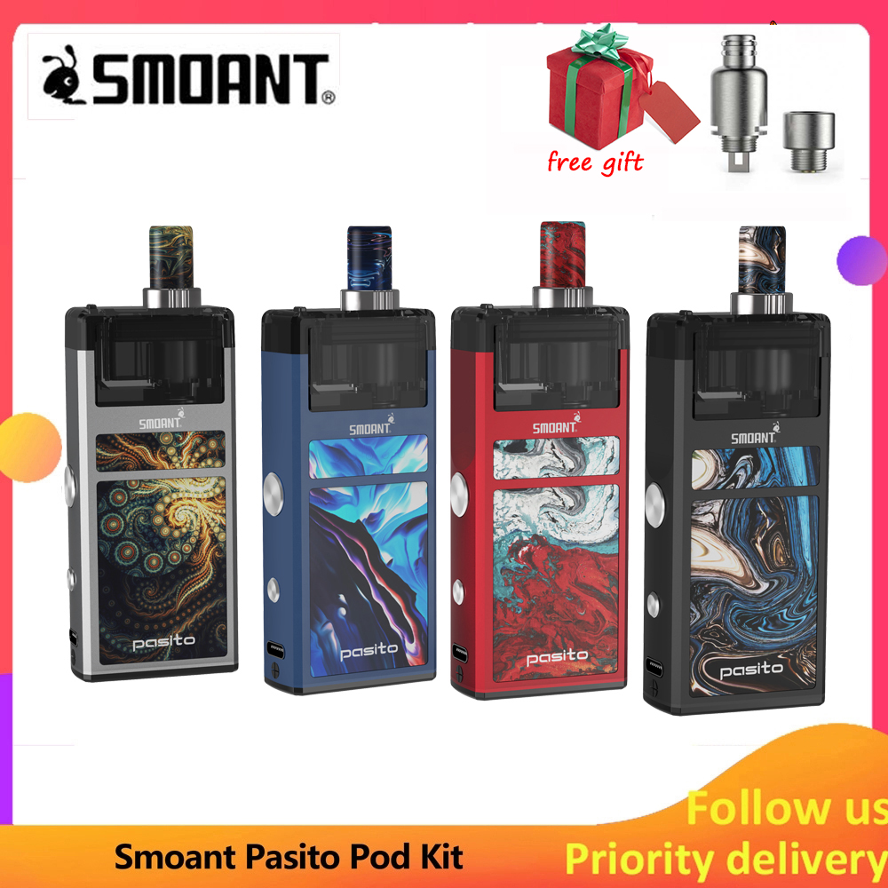 Pod Vape Original Smoant Pasito Pod Kit 1100 Mah Built-in Battery & 3ml Atomizer E Cigarette Vape Kit Vs Orion DNA GO Pod Kit
