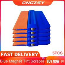 5PCS 비닐 자동차 랩 탄소 호 일 필름 자기 스퀴지 소프트 블루 스웨이드 프로 색조 Bondo 필름 스티커 포장 버블 스크레이퍼 5A36