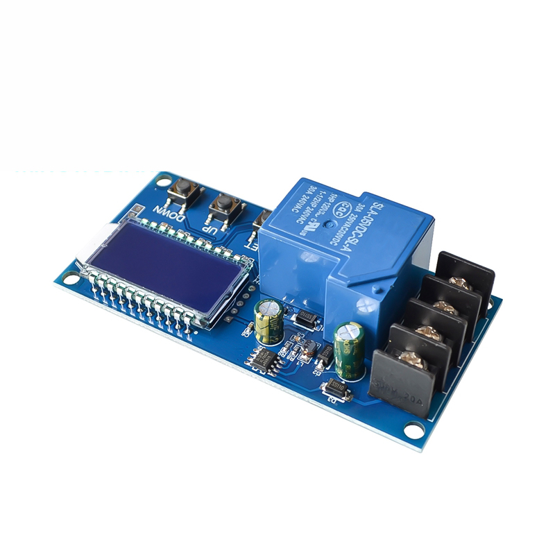 DC 6-60v 30A Storage Battery Charging Control Module Protection Board Charger Time Switch LCD Display XY-L30A