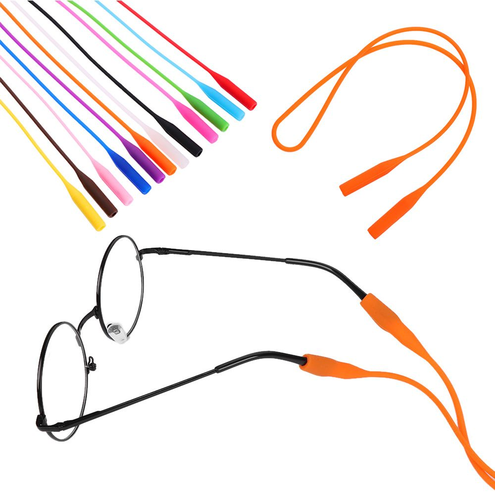 1 Pcs Candy Color Elastic Silicone Eyeglasses Straps Sunglasses Chain Sports Anti-Slip String Glasses Ropes Band Cord Holder