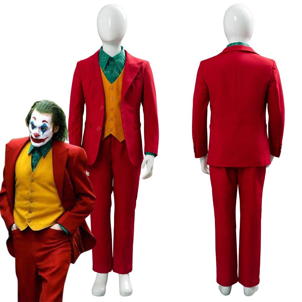 2019 DC Joker Joaquin Phoenix Arthur Fleck Kid's Cosplay Costume Origin Romeo