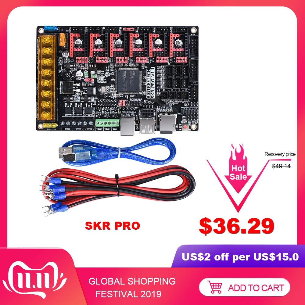 BIGTREETECH SKR PRO V1.1Control Board 32Bit 3D Printer Parts Vs Skr V1.3 MKS GEN L RAMPS 1.4 A4988 TMC2208 Uart TMC2130 TMC2209