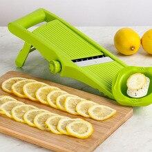 цена на Manual Vegetable Fruit Slicer Stainless Steel Shredder Cutting Device Onion Potato Carrot Lemon Cutter Grater Kitchen Tool