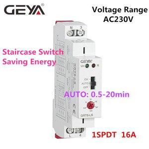 Image 5 - GEYA Interruptor de iluminación para escaleras, GRT8 LS Din, temporizador, 230VAC, 16A, 0,5 20 minutos de retardo