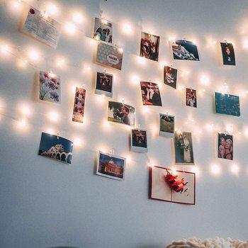 Guirnalda de luces LED 3m 10m con Clip para tarjetas y fotos, guirnalda de hadas para Navidad, Año Nuevo, cumpleaños, decoración para fiesta de boda, Lámpara decorativa