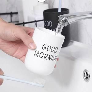 Toothbrush-Holder Cup Storage-Organizer Bathroom-Sets Washing-Cup Good-Morning Travel