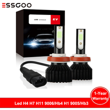 Essgoo 2x 8000k H4 Led H7 H11 Hb4 H1 Hb3 Auto Ev12 Car Headlight Bulbs 120w 12000lm Styling 9005 9006 Automotivo