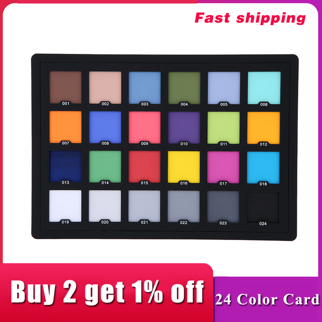 Andoer Professional 24 Color Card Test Balancing Checker Card Palette Board for Superior Digital Color Correction 1