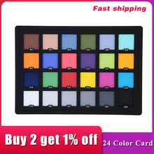 Andoer Professional 24 Color Card Test Balancing Checker Card Palette Board for Superior Digital Color Correction