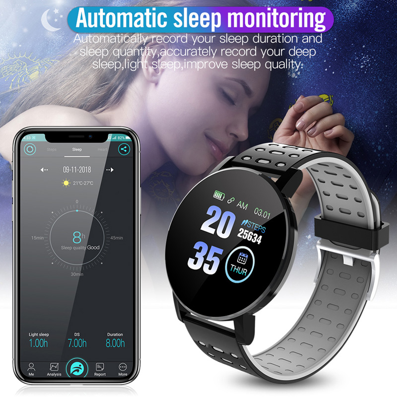 Image 4 - Fitness Bracelet Blood Pressure Measurement Smart Band Waterproof Fitness Tracker Watch Women Men Heart Rate Monitor SmartbandSmart Wristbands   -