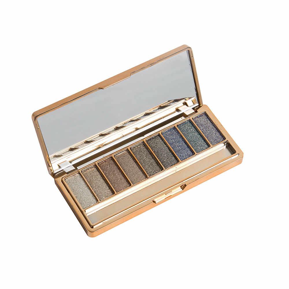 9 Warna Shimmer Eyeshadow Palet Eye Shadow Makeup & Kosmetik Sikat Set G731