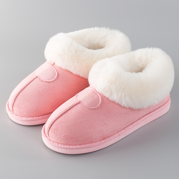 Women Slippers Winter Fur slippers for Women Home shoes Flock Non slip Rubber House shoes Furry Slipper Indoor Size 41 46 winter home slipper man women despicable me minions slippers plush stuffed funny slippers flock indoor house shoes adult cosplay