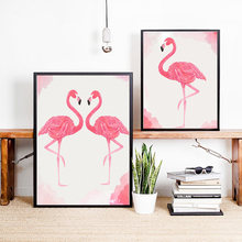 Wall Poster Flamingo Paintings On The Wall Home Decor Wall Art Modular Pictures Living Room Decoration Nordic Posters and Prints(China)