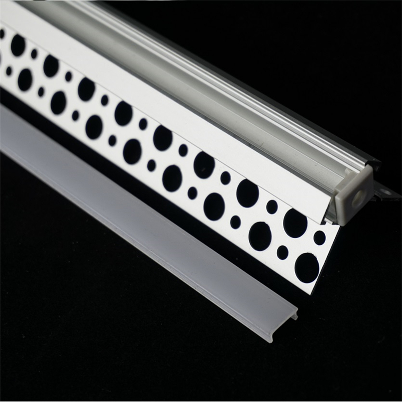 5-30pcs/lot 100cm Positive And Negative Angle Plaster Board Embedded Led Aluminium Profile ,10mm Tape Channel Housing Rigid Bar