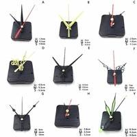 1Set Hängen DIY Quarzuhr Stille Wanduhr Bewegung Quarz reparatur Bewegung Uhr Mechanismus Teile mit Nadeln-in Wanduhren aus Heim und Garten bei