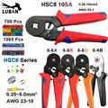 Crimping כלים פלייר חשמל מסופי צינורי תיבת מיני מהדק HSC8 10S 0.25-10mm2 23-7AWG 6-4B/6- 6 0.25-6mm2 16-4 סטי כלים