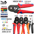 Crimping tools pliers electrical tubular terminals box mini clamp HSC8 10S 0.25-10mm2 23-7AWG 6-4B/6-6 0.25-6mm2 16-4 tools sets