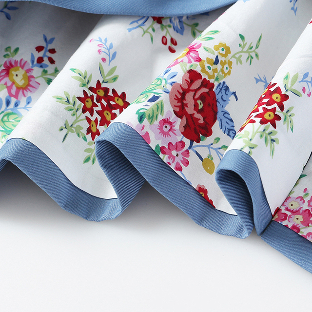 [EAM] Loose Fit Pattern Printed Irregular Short Jacket New V-collar Short Sleeve Women Coat Fashion Spring Autumn 2021 1Y7180 6