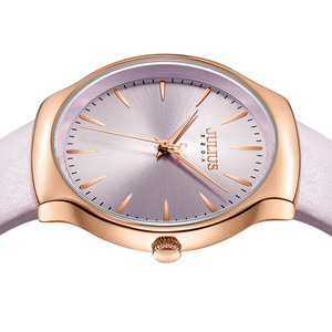 Image 3 - 새로운 우아한 줄리어스 여자 시계 일본 mov 시간 없음 패션 시계 진짜 가죽 팔찌 여자의 생일 크리스마스 선물 상자