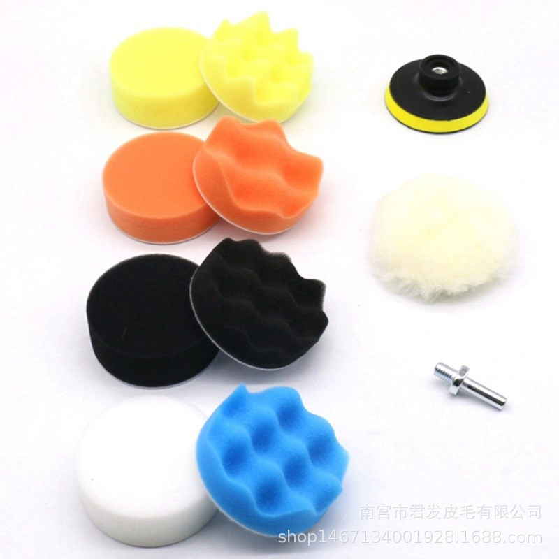 Car Polishing Pad 3/4/5/6/7 Inch 11Pcs/set Sponge Buffing Waxing Boat Car Polish Buffer Drill Wheel Polisher Removes Scratches