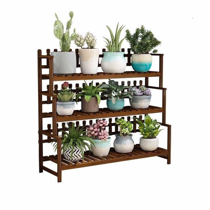 Saksi Standi Mueble Para Plantas Stojaki Na Kwiaty Indoor Pot Ladder Balcony Shelf Outdoor Plant Rack Dekoration Flower Stand
