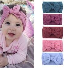 5 pçs/set bebê faixa de cabelo conjunto para meninas arco elástico headbands torcido cabo design turbante sólida crianças headwear bebê cabelo accessorie