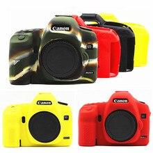 Armadura de Silicone Pele Caso Protetor de Tampa Do Corpo para Canon EOS Mark II 2 5D 5DII 5D2 Corpo DSLR Câmera Digital SÓ