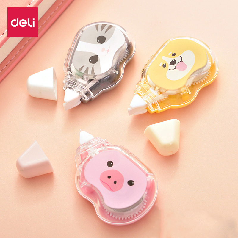 Deli 7231 Correction Tape Cute Junior High School Young STUDENT'S Correction Tape Large-Volume Multi-functional Corretion Pen/fl