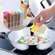 Kitchen Utensils Spice Jar Seasoning Box 6Pcs/Set Kitchen Spice Storage Bottle Jars Transparent PP Salt Pepper Cumin Powder Box