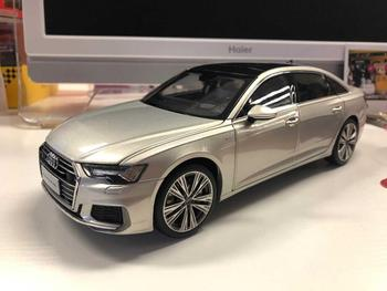 1:18 Diecast Model for Audi A6L 2019 Silver Gold Sedan Alloy Toy Car Miniature Collection Gifts A6 S6 image