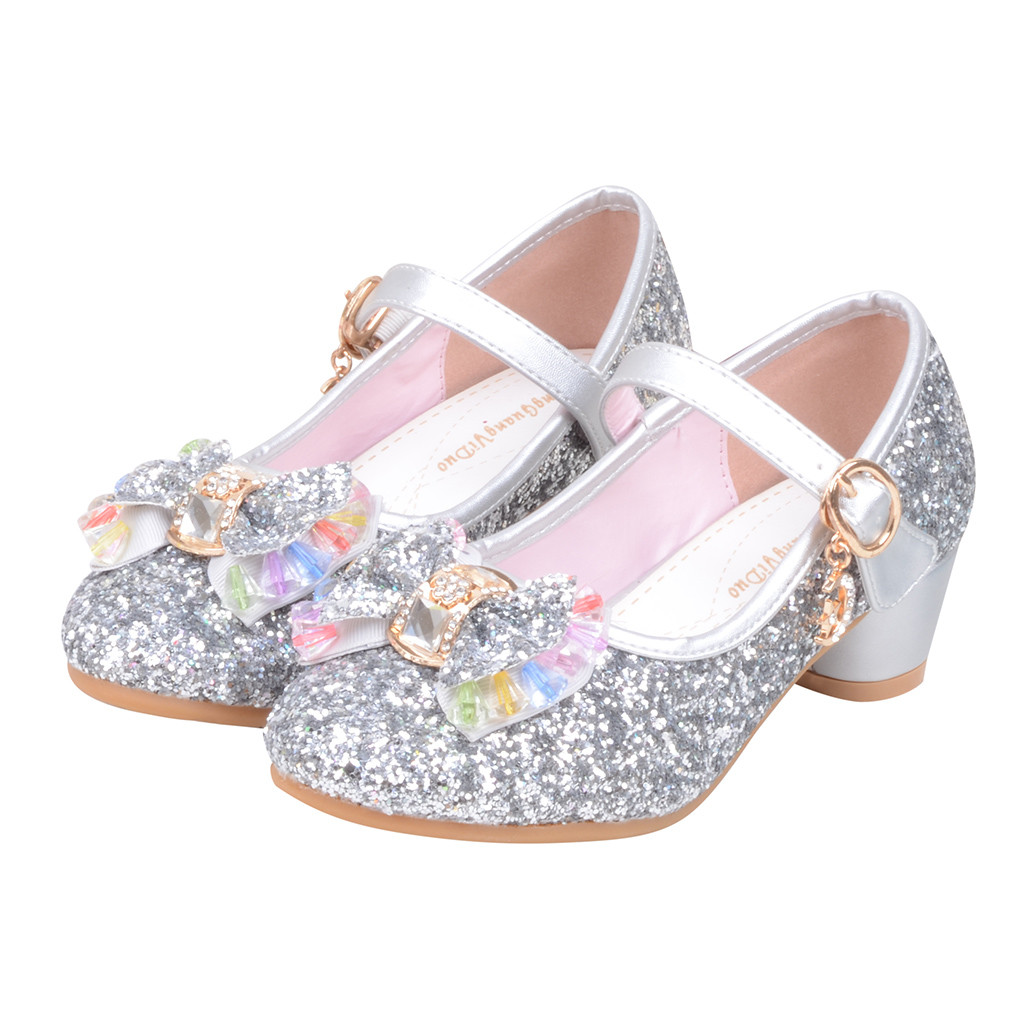girls sandals Infant Kids Baby Girls Pearl Crystal Bling Bowknot Single Princess Shoes Sandals sandale enfant fille13.74gg