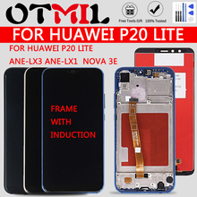 High Quality LCD With Induction For HUAWEI P20 Lite Lcd With Frame Display Screen For HUAWEI P20 Lite ANE-LX3 ANE-LX1 Nova 3e for huawei nova 3e case aluminum metal bumper case for huawei p20 lite dual color frame for huawei nova 3e case cover 5 84