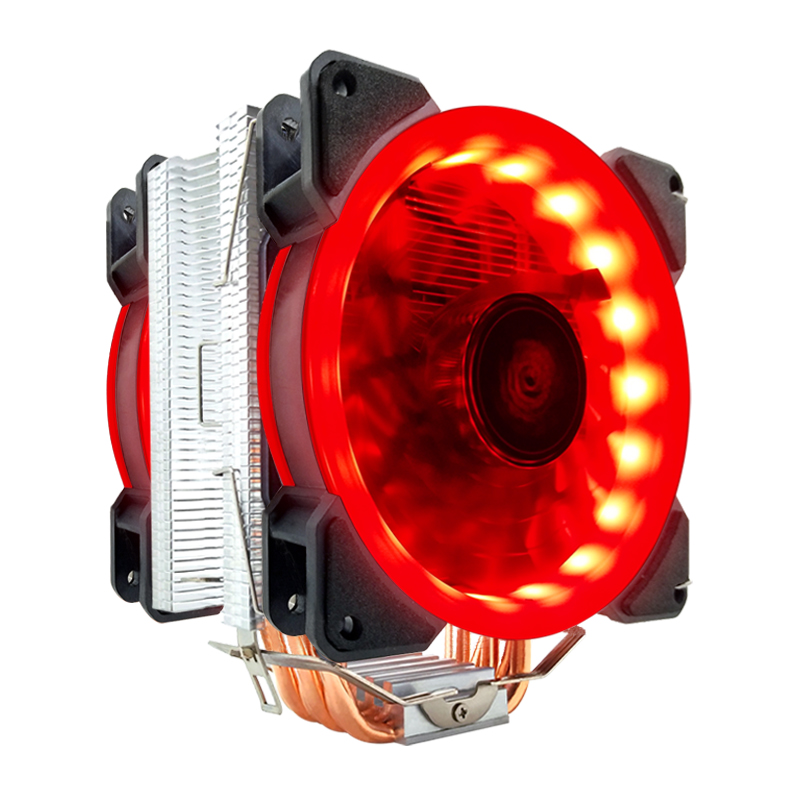 SNOWMAN RGBCPU Radiator, 6Copper Heat Pipes, 120mm RGB PWM Fan, Aluminum Fin, Suitable for Intel LGA 1200 1150 1151 1155 2011AMD