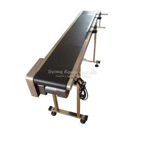 LY 120W одиночный Буфл из нержавеющей стали, ленточный транспортер/коробка/Сумка/наклейка для пищевых продуктов, струйный принтер, волоконная ...