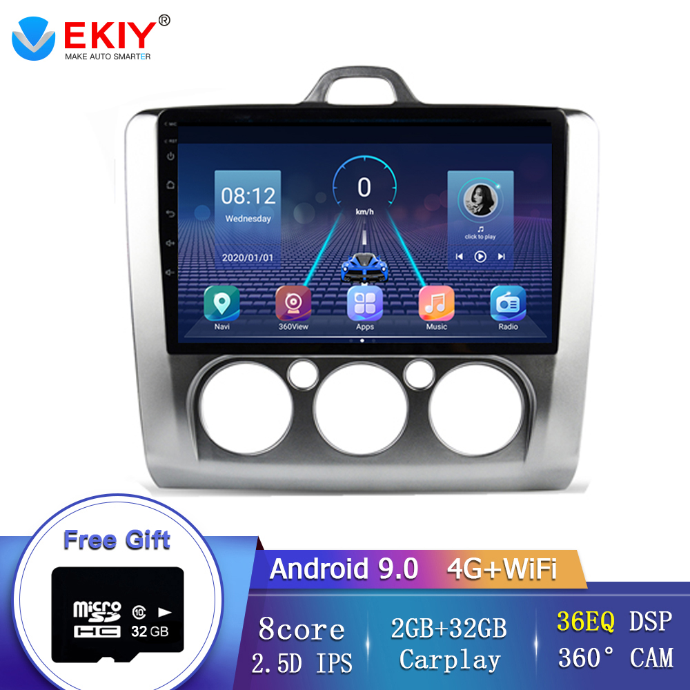 EKIY 8 Core Car Radio Multimedia Video Player For Ford Focus 2 Mk2 2004-2011 DSP Android 9.0 36EQ DSP Wifi 360 Bird View Camera image