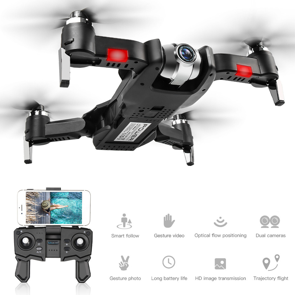 Best RC Drone with 4K Adjustable Wide-Angle Camera No Signal Return Foldable Quadcopter Optical Flow Dron RC Helicopter