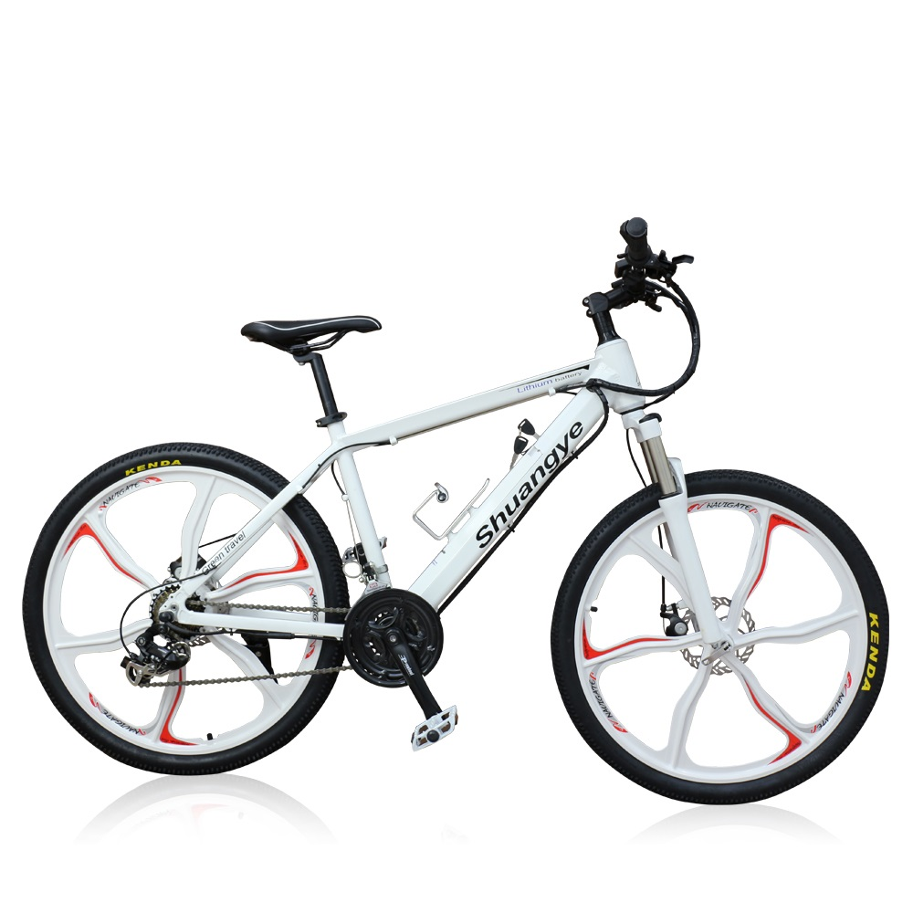 HOTEBIKE 36v 350w Durable Mountain Electric Bike with Magnesium Wheel 10AH Hidden Battery (A6AH26M)