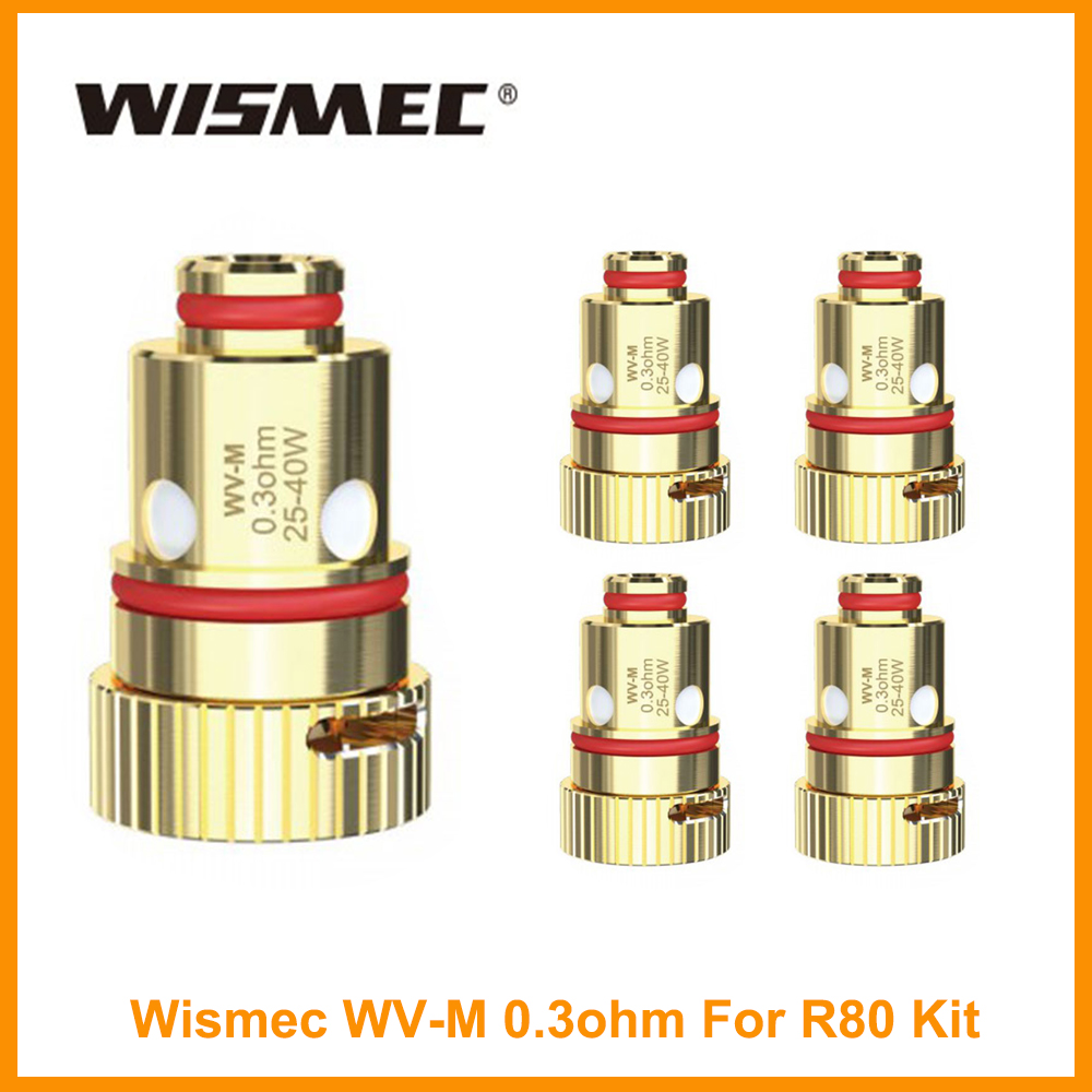 Original Wismec R80 Coil WV-M 0.3ohm Head/WV01 Single 0.8ohm Coil For Wismec R80 Kit Replacement Electronic Cigarette