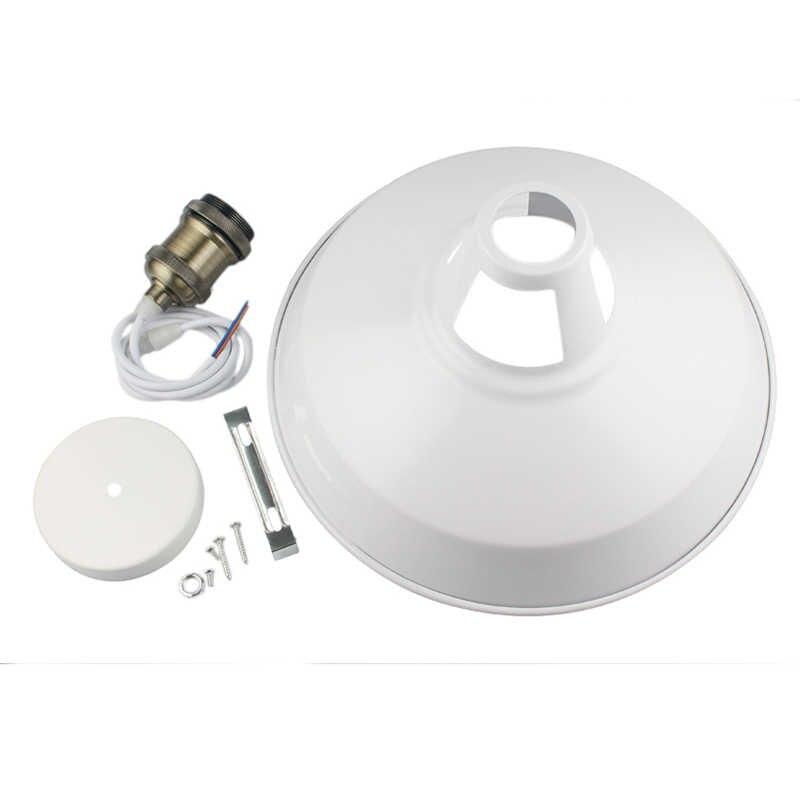 Промышленный подвесной светильник в стиле ретро для ресторана, кухни, дома, декоративные лампы, винтажный подвесной светильник, абажур для столовой