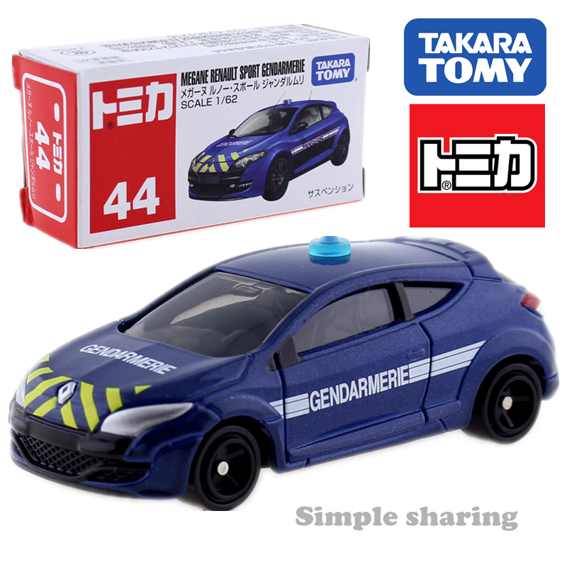 Takara Tomy Tomica No.44 MEGANE RENAULT Sport GENDAMERIE 1:67 Diecast Car Toy Model Collectibles Magic Funny Roadster Bauble