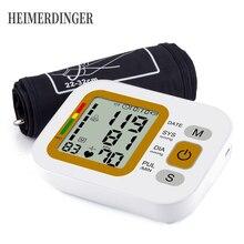 Digital Upper Arm Blood Pressure Monitor Heart Beat Rate Pulse Meter Tonometer Sphygmomanometer Pulsometer Healthcare automatic digital wrist cuff blood pressure monitor arm meter pulse sphygmomanometer heart beat meter lcd display convenient